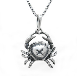 Crab Cancer Astrological Sign Pendant Necklace