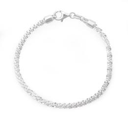Sterling Silver Criss Cross Bracelet, 7 Inch