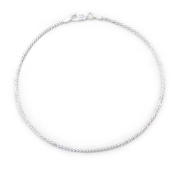 Sterling Silver Criss Cross Anklet, 9 Inch