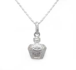 Sterling Silver Spirit Liquor Bottle Charm Necklace