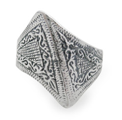 Sterling Silver Abstract Angular Ring