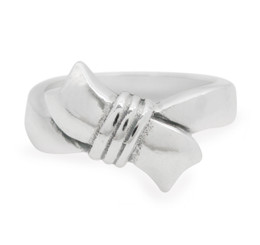 Sterling Silver Knotted Ribbon Ring