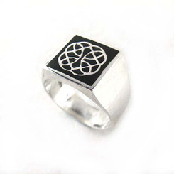 Sterling Silver Enamelled Signet Ring