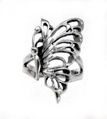 Sterling Silver Elegant Wing Butterfly