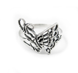 Sterling Silver Flying Butterfly Ring