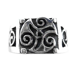 Sterling Silver Celtic Signet Ring