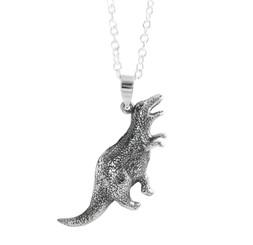 Sterling Silver Allosaurus Dinosaur Necklace