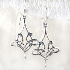 Large Sterling Silver Celtic Knot Earrings
