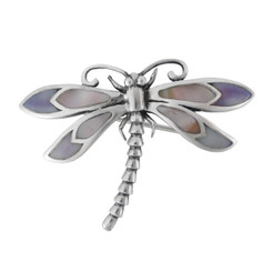 Mother of Pearl Dragonfly Brooch Pin