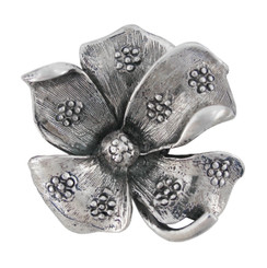 Flowers on Petals Brooch Pin