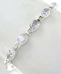 Crystal Tennis Bracelet, Clear