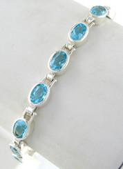 Crystal Tennis Bracelet, Aqua
