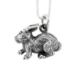 Sterling Silver Chinese Zodiac Rabbit Charm Necklace