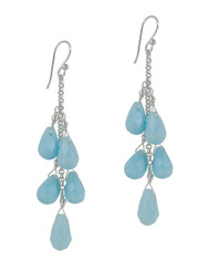 "Sterling Silver ""Westeria"" Cascading Drop Earrings, Sky"
