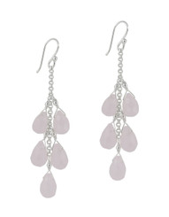 "Sterling Silver ""Westeria"" Cascading Drop Earrings, Pink"