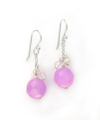 "Sterling Silver ""Candy"" Drop Earrings, Lavender"