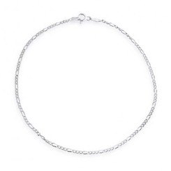 Sterling Silver Figaro Chain Anklet 9 Inch