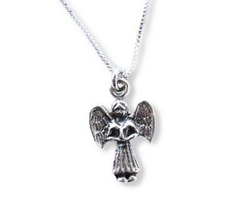 Dainty Sterling Silver Angel Charm Necklace