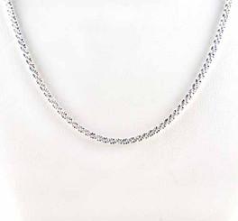 Sterling Silver Italian Sparkling Criss Cross Chain