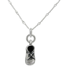 Sterling Silver Baby Bootie Charm 16-18 Inch Adjustable Necklace