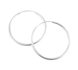 Large Sterling Silver Endless Hoop Earrings 50mm