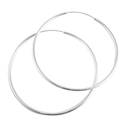 Sterling Silver Endless Hoop Earrings 65mm