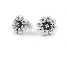 Sterling Silver Wildflower Stud Post Earrings