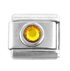Italian Link Charm, Yellow