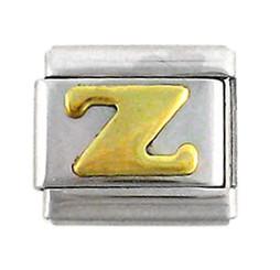 Italian Link Initial Charm, Letter Z