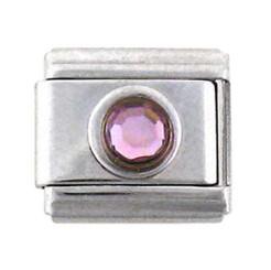 Italian Link Charm, Purple