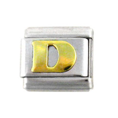 Italian Link Initial Charm, Letter D