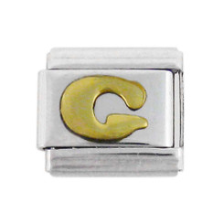 Italian Link Initial Charm, Letter G