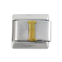 Italian Link Initial Charm, Letter I