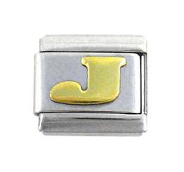 Italian Link Initial Charm, Letter J