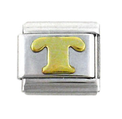 Italian Link Initial Charm, Letter T