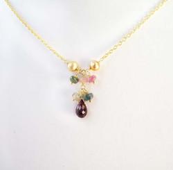 Gemstone & 18k Gold Vermeil Necklace