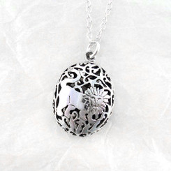 Sterling Silver Large Medieval Lion Necklace, 18-Inch
