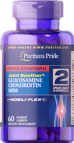 Item #17897 /Triple Strength Glucosamine, Chondroitin & MSM Joint Soother®  三倍強效葡萄糖胺、軟骨素、MSM配方 60粒