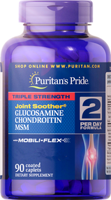 Item #17895 /Triple Strength Glucosamine, Chondroitin & MSM Joint Soother® 90s / 三倍強效葡萄糖胺、軟骨素、MSM配方 90粒
