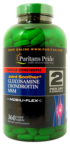 Item #23413 /Triple Strength Glucosamine, Chondroitin & MSM Joint Soother® 360s / 三倍強效葡萄糖胺、軟骨素、MSM配方 360粒