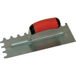 11 X 4 1/2 Notched Trowel-Soft Grip Handle; 1/4 X 1/2 X 1/4 U