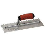 11 X 4 1/2 Notch Trowel-3/8 X 3/8 X 3/8 SQ w/Curved DuraSoft  Handle