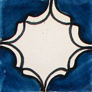 Arabesque Azul Handcrafted Talavera Tile (4x4)