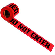 Red Danger Tape 300 ft roll - FREE SHIPPING