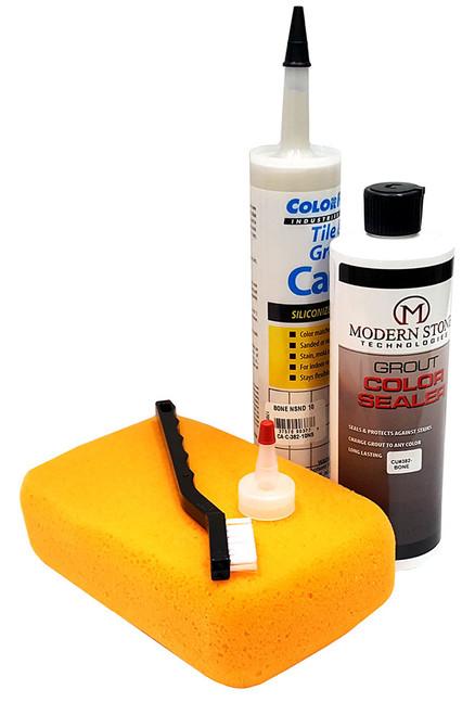 Grout Repair, Color Restoration, Grout Sealer - Caulk & Color Seal Kit