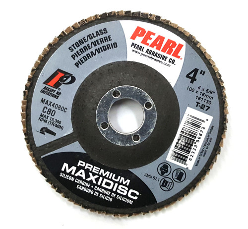 Grinding & Smoothing Flap Disc, Pearl 4x 5/8 SC Maxidisc™