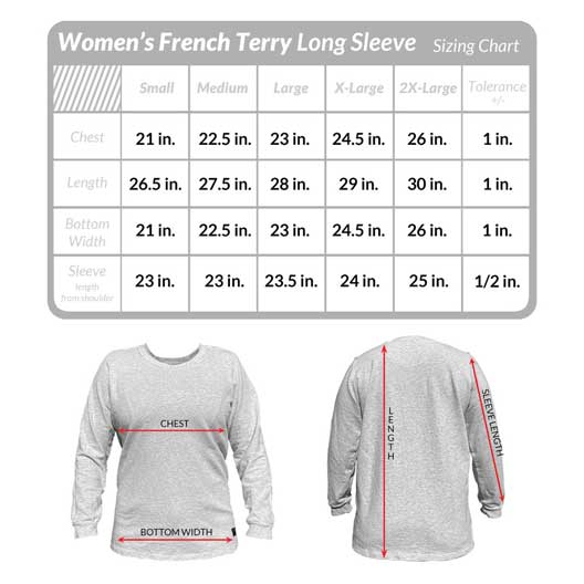 Get your perfect long sleeve pull-over in the perfect fit. Check the guides before you buy