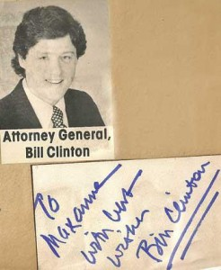 1977 - Bill Clinton Autograph - Attorney General - Arkansas
