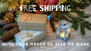 Get Free Shipping with your order of $100 or more when shipping within the USA