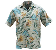 Mens Hawaiian Aloha Shirt | Bird of Paradise